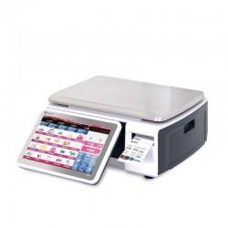 Balança comercial e etiquetadora Baxtran S75 aferiçada CE para venda ao publico